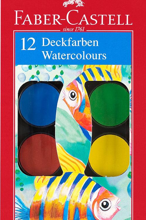Farvelader, 12 Dækfarver Med Høj Farveintensitet