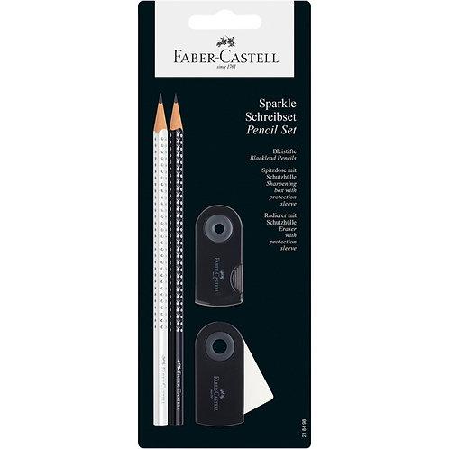 Skole- og studiesæt m/blyanter, viskelæder og en spidser. Vælg farve