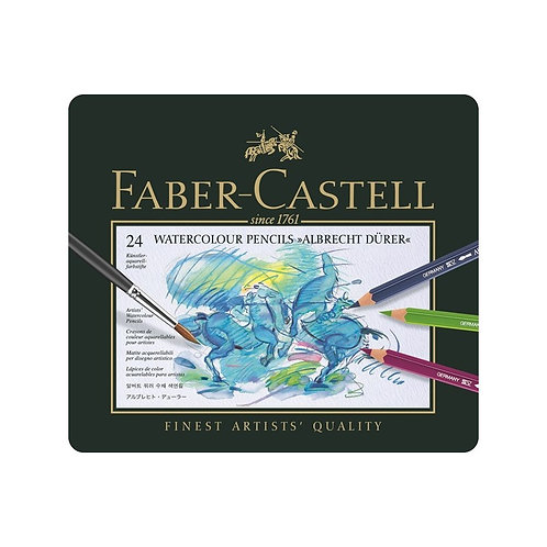 Faber-Castell Albrecht Dürer Akvarelblyanter, Metalæske med 24 ass.
