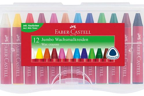 Faber-Castell Vokskridt i genanvendelig plastboks