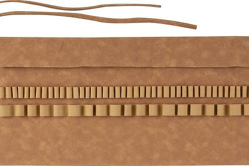 Læderomslag/penalhus med plads til 45 penne. Kunstlæder