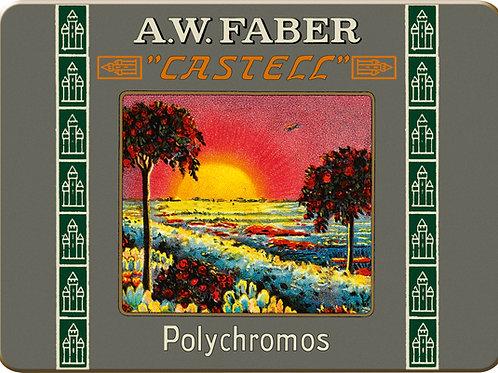 Polychromos farveblyanter i retro-udgave med 12 stk. korte blyanter
