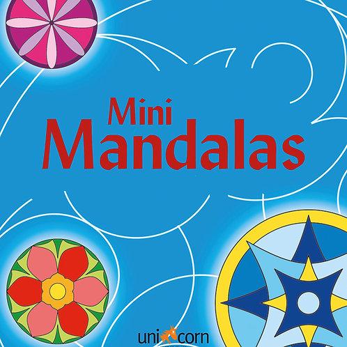 Malebog Mini Mandalas, Grafiske Mønstre Blå