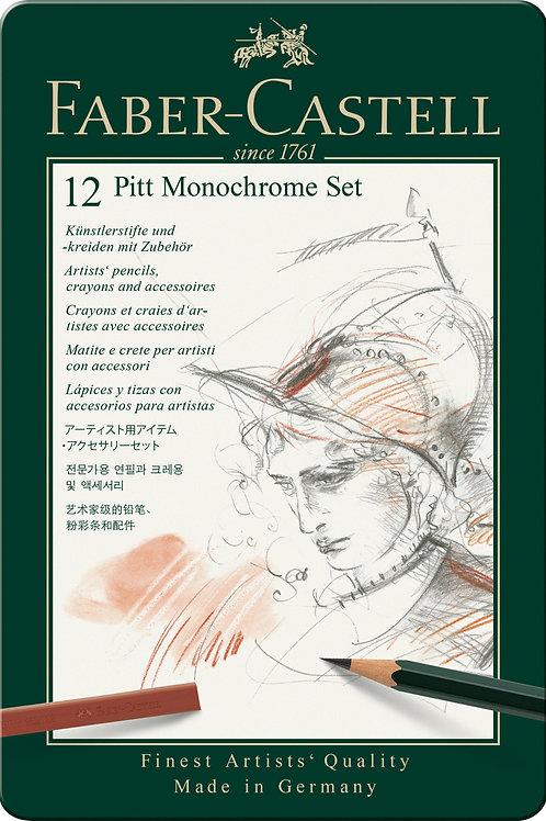 Pitt Monochrome Kunstnersæt Med 12 dele