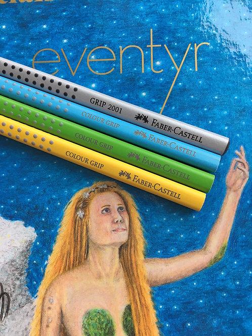 H.C. Andersens eventyr inkl. 5 farveblyanter