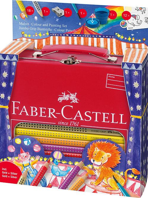 Farveblyanter, Jumbo i Fin Lille Kuffert Med Håndtag, Cirkus