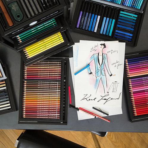 Kunstnerfarver i KARLBOX. Karl Lagerfeld & Faber-Castell. Limited Edition