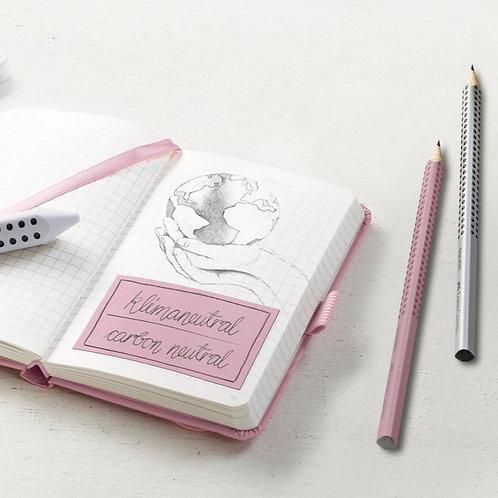 Skolesæt med 3 Faber-Castell blyanter, 1 viskelæder og 1 spidser