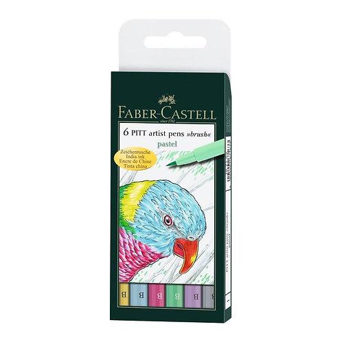 PITT Artist penne 'pastel' - 6 forskellige pastelfarver