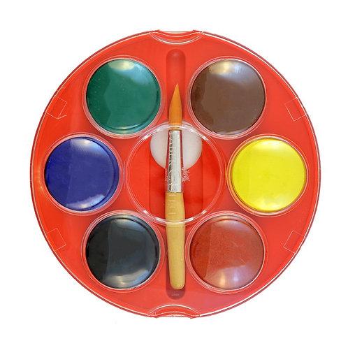 Farvelader, 6 Dækkende Basis Farver