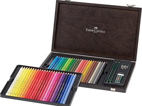 Faber-Castell Polychromos farveblyanter i  trækuffert