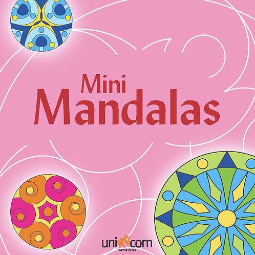 Malebog Mini Mandalas, Grafiske Mønstre Lyserød