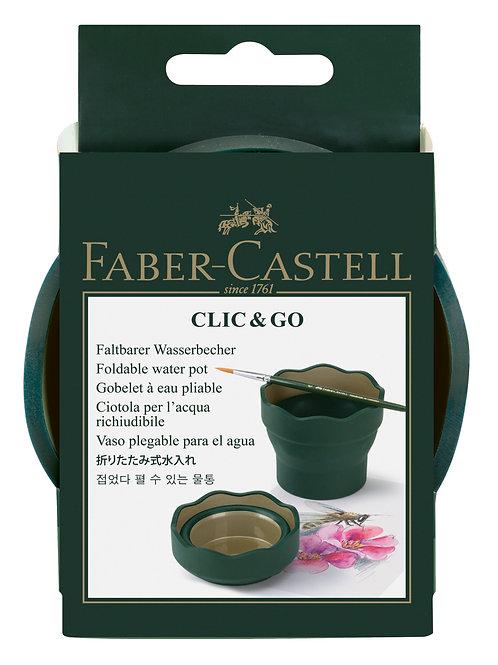 Clic & Go' vandskål fra Faber-Castell lige til at tage med, Grøn