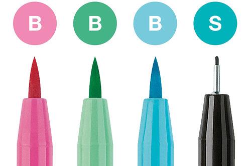 Hand Lettering Sæt, Pitt Artist Pen, 6 Penne