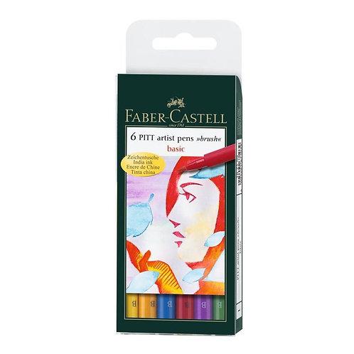 PITT Artist penne 'basic' - 6 forskellige basisfarver