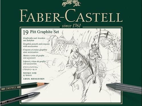Faber-Castell PITT Grafit Sæt, Med 19 Dele