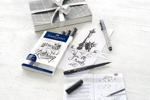 Hand Lettering Startsæt Med 7 Pitt Artist Penne