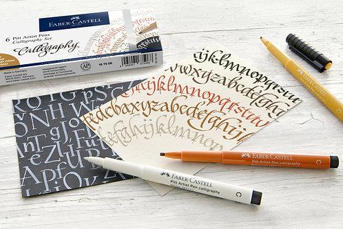Kalligrafisæt med 8 penne