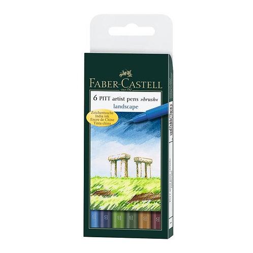 PITT Artist penne 'landscape' 6 forskellige landskabs farver