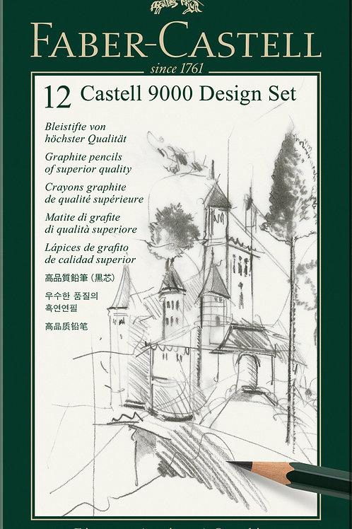 Tegneblyant Castell 9000, Sortimentsæske Med 12 Stk.