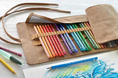 Akvarelblyanter i kunstnerkvalitet i smart omslag med 30 blyanter.