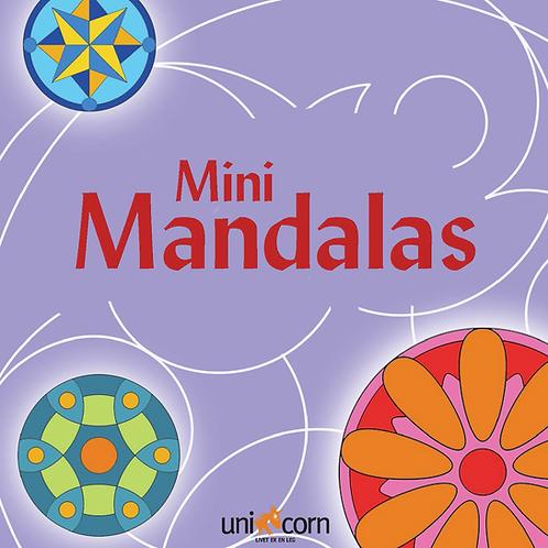 Malebog Mini Mandalas, Grafiske Mønstre Lilla