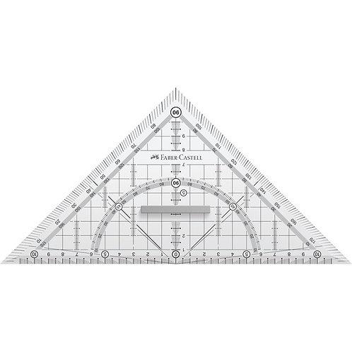 Geometritrekant i Grip Design, 22 cm