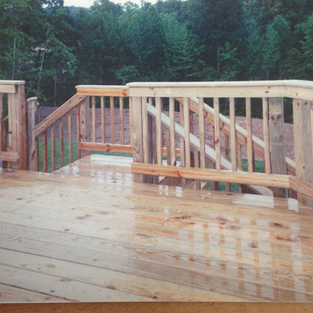 Double stair deck