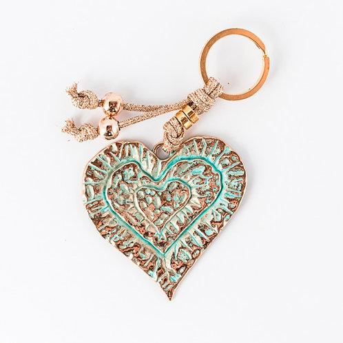 KEYHOLDER | Heart | gold/green