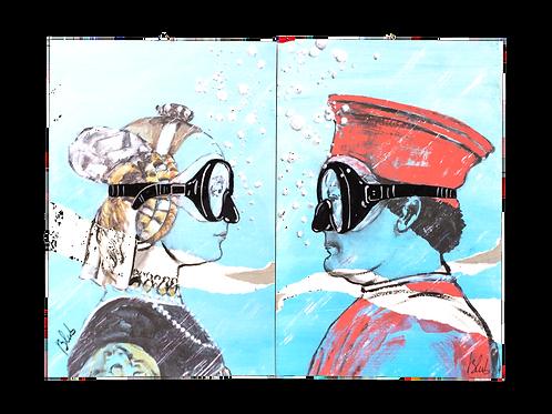 """BLUB """"The Duke and Duchess of Urbino"""" 2 x on carton"""
