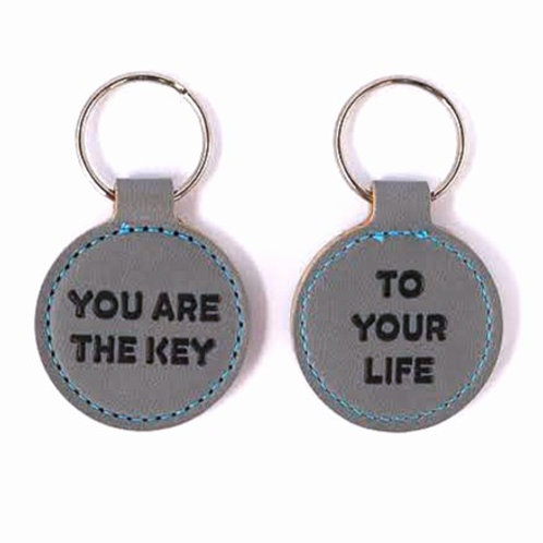 KEYHOLDER | You Are the Key to Your Life | brown or grey
