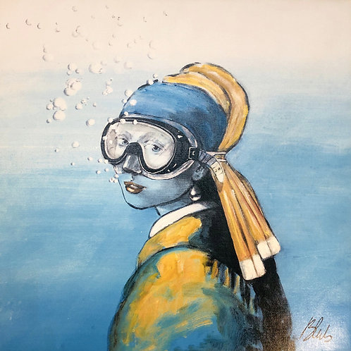 BLUB | Girl with the Pearl Earring |on Canvas