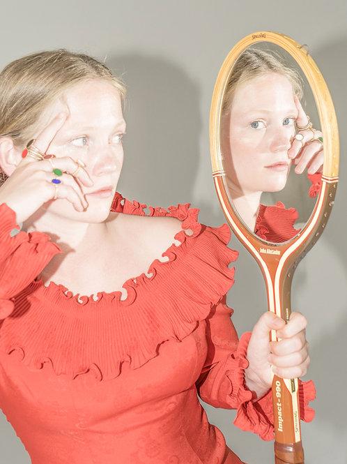 Vintage Tennisracket Mirror