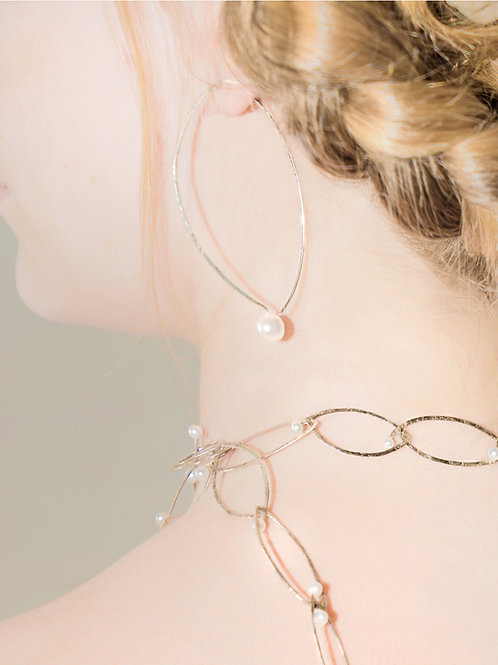 HAMMERED SILVER | Silver | Pearls