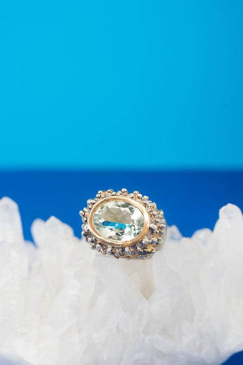 OVALE PALLINO | Ring | Green amethyst | Silver