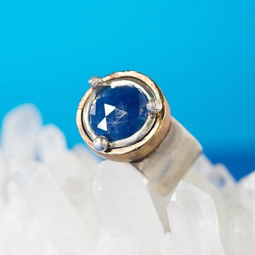 CORONA | Ring | Silver -Saphire