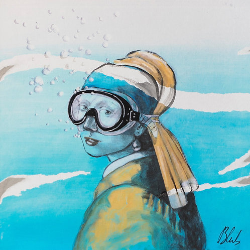 BLUB | Girl with the perle earring | on carton