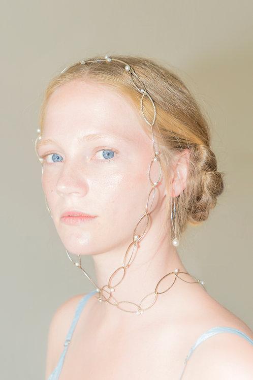 Perlfish | long Necklace | Silver & Perls