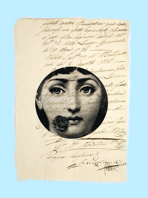 LIZZIE | Print on original letter of the 18th century