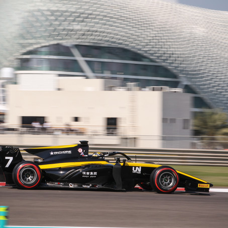 Callum Ilott and Guanyu Zhou show impressive pace in the Abu Dhabi F2 post season test ahead of 2020