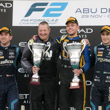Luca Ghiotto signed off his FIA Formula 2 career with a victory in Abu Dhabi for UNI-Virtuosi Racing
