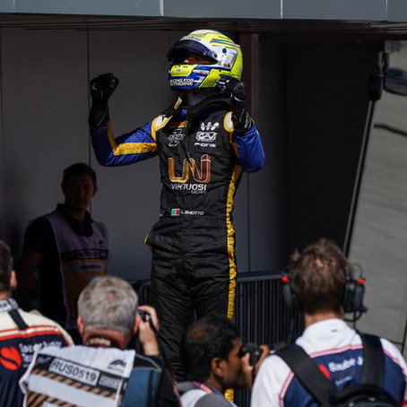 Italian driver Luca Ghiotto delivered a stunning weekend in Sochi to take a victory