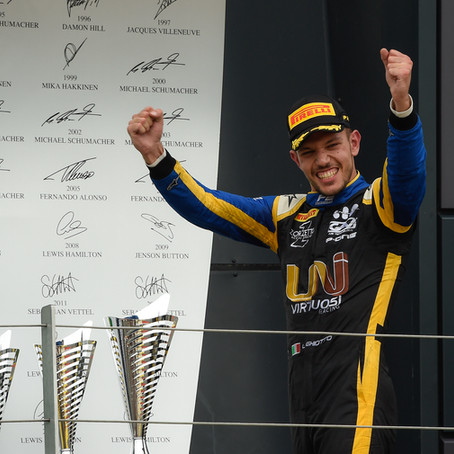 Luca Ghiotto's first FIA F2 feature race win, as rookie sensation Guan Yu Zhou scored another podium