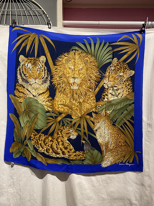 Salvatore Ferragamo Jungle Silk Scarf