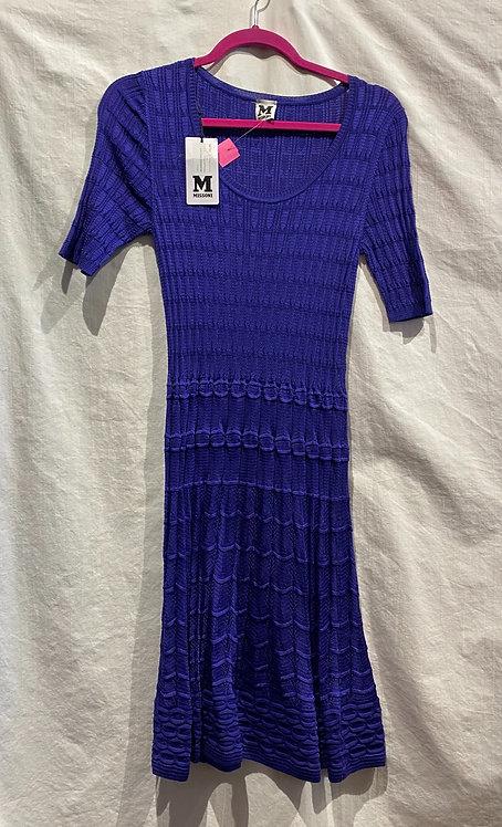 M Missoni Purple Knit Dress