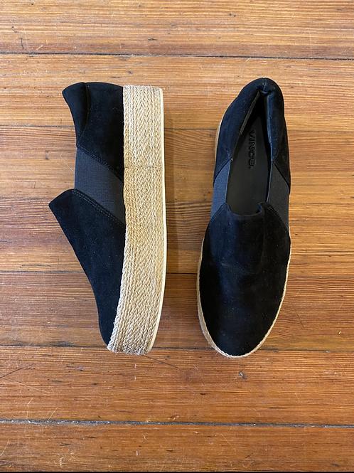 Vince Raffia Platform Sneakers