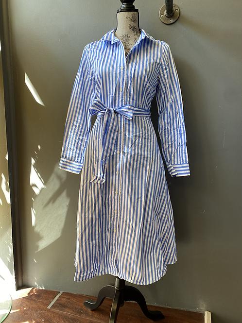 Talbots Striped Midi Shirtdress