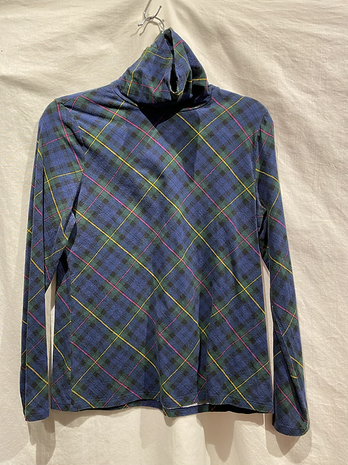 Talbots Plaid Turtleneck Tee