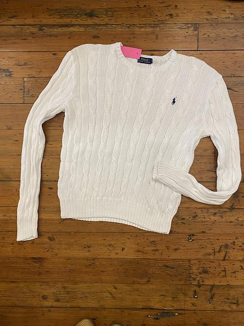 Polo Ralph Lauren Cotton Cableknit Crewneck | Large