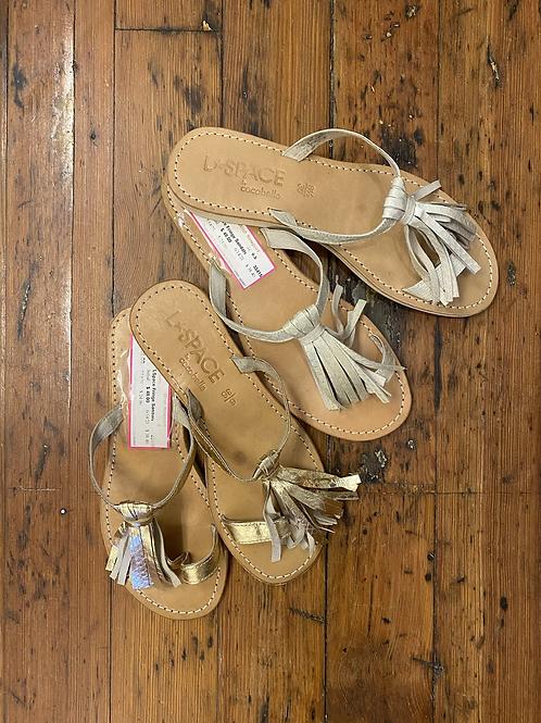 L Space Fringe Sandals